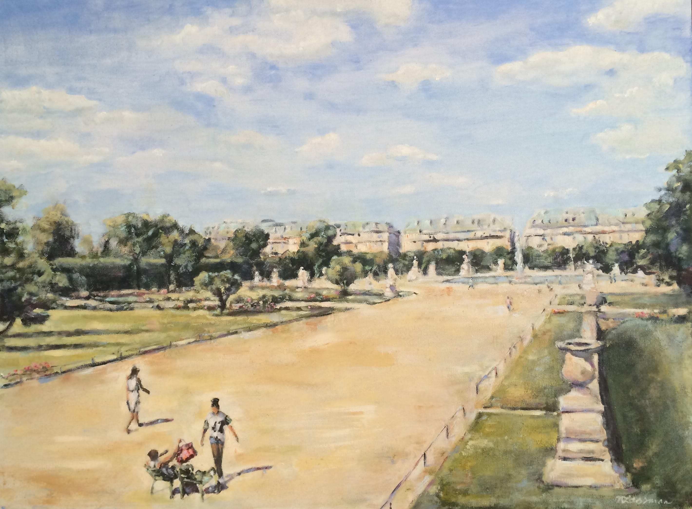 jardin de tuileries Nadia Lassman Painting and Artistry monet ...
