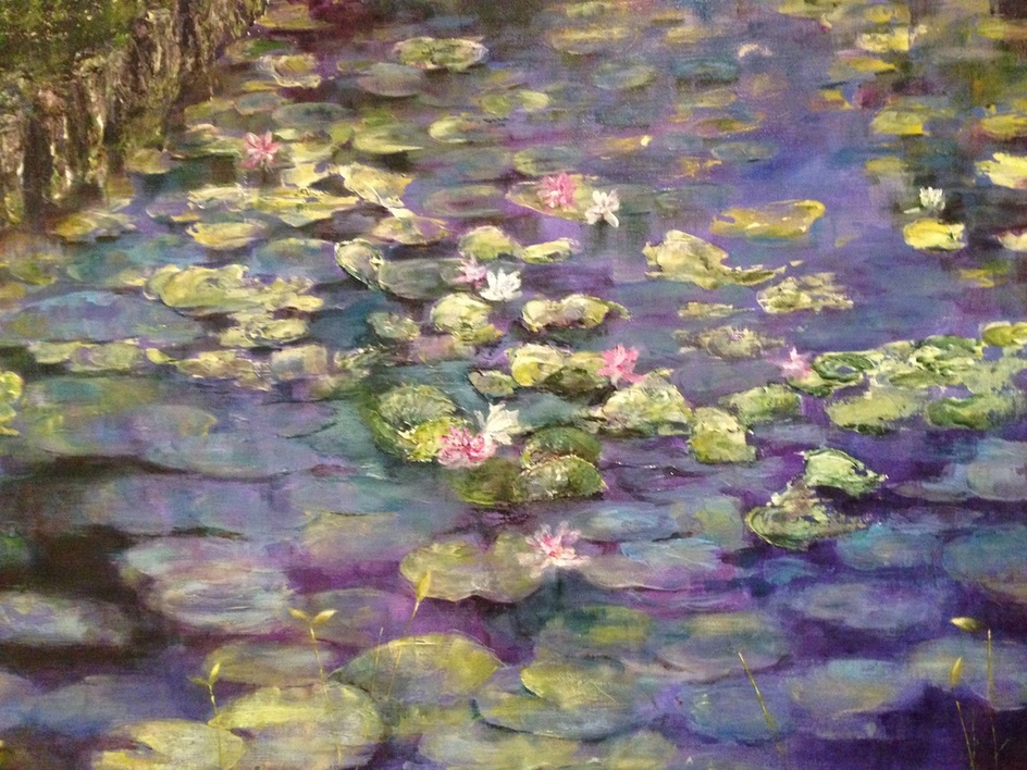 lillies acrylic painting nadia lassman painter and artist toronto