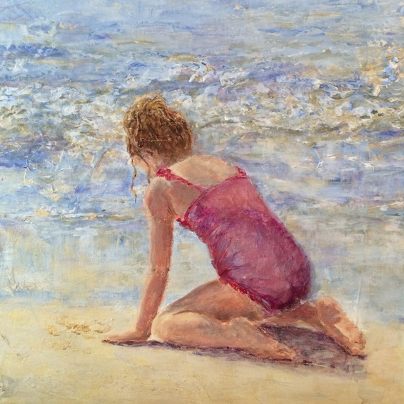 summer day at the sea painting Nadia Lassman Toronto painter artist