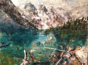 valley of the ten peaks banff painting nadia lassman artist
