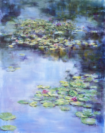 giverny lily pads painting nadia lassman artist