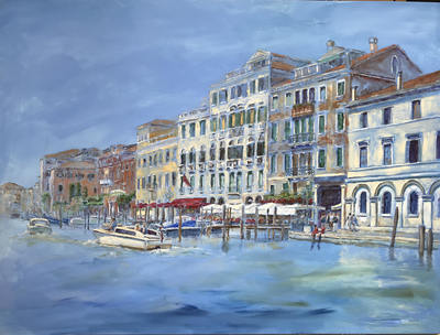 painting of grand canal venice italy nadia lassman artist