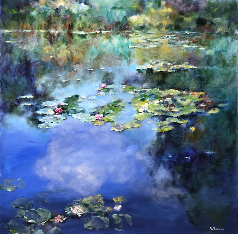 image lilypads in georgian bay  nadia Lassman art toronto